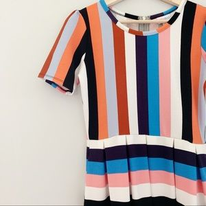 lularoe | striped amelia dress